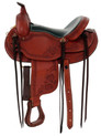 """western natural roughout roper ranch 17"""" classic saddle"""