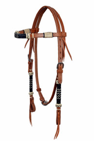western browband rawhide braided headstall