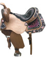 fender & jockey peacock feather embroidered saddle