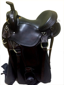 western brown pleasure trail gaited endurance saddle