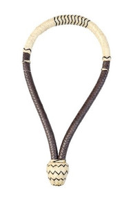 western natural ⅝ inch rawhide weaved bosal