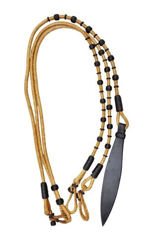 western natural rawhide weaved ⅝ inch bosal