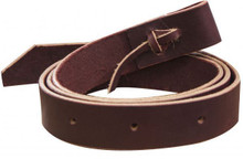"Western Brown Leather Latigo Strap With Holes 1.5"" x 52"" Long By Aledo Saddlery"