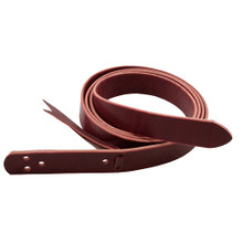 "Western Cherry Leather Latigo Strap With Holes 1.5"" x 52"" Long By Aledo Saddlery"