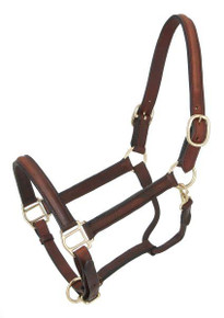 Western Brown Oil Treated Leather Halter By Aledo Saddlery