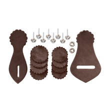 Western Brown Leather Saddle Repair Kit with Harware By Aledo Saddlery