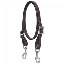 Western Dark Oil Leather Wither Strap with Trigger Snap By Aledo Saddlery