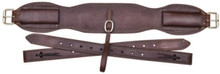 """Western Brown Leather 36"""" x 5"""" Wide Cinch with Off Billets By Aledo Saddlery"""