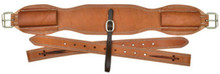 """Western Natural Leather 36"""" x 5"""" Wide Cinch with Off Billets By Aledo Saddlery"""