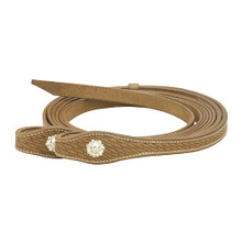 Western Natural Leather Hand Basket Tooled Leather Reins By Aledo Saddlery