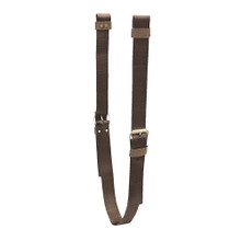 Western Brown Set of Off Billets and Girth By Aledo Saddlery