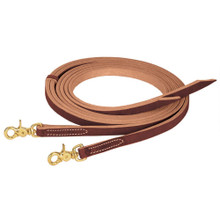 "Western Brown Leather 5/8"" Wide Split Reins By AledoSaddlery"