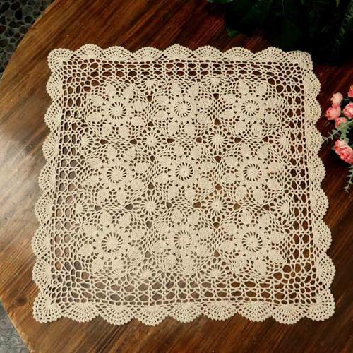 Kilofly Handmade Crochet Cotton Lace Table Placemats Sofa Doilies