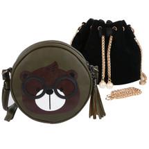 kilofly 2pc Little Girl Cute Bear Handbag Shoulder Bag Crossbody Purse Combo Set