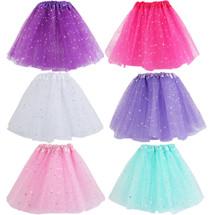 kilofly Girls Ballet Tutu Kids Birthday Princess Party Favor Dress Skirt, Set of 6