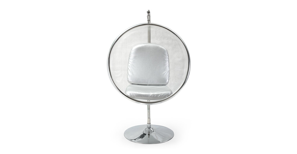 Bubble Chair With Frame Silver Kardiel