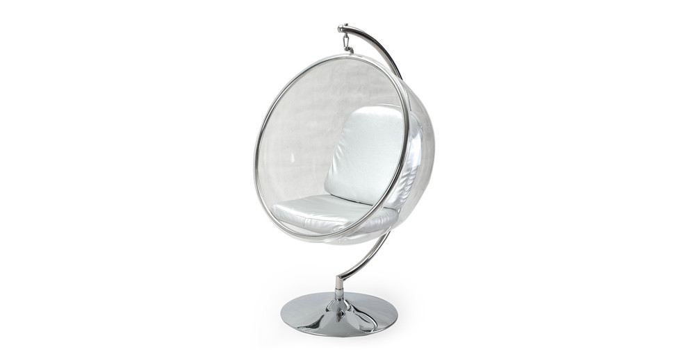 bubble chair with frame, silver - kardiel