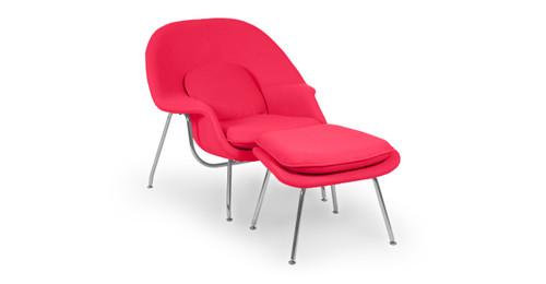 womb chair u0026 ottoman pink