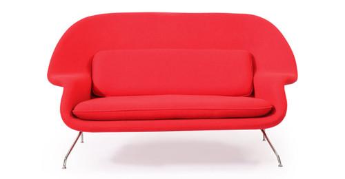Womb Sofa, Cherry Red