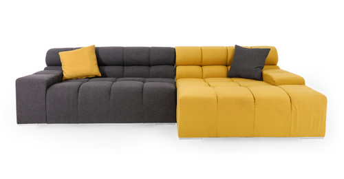 Cubix Sofa Sectional Right Arylide/Charcoal  sc 1 st  Kardiel : l shaped chaise sofa - Sectionals, Sofas & Couches