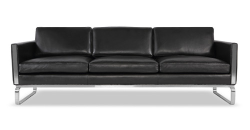 Mid Century Modern Leather Sofas Loft Modern leather couch