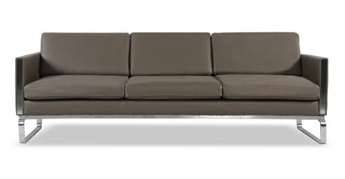 Amsterdam Sofa, Grey Aniline Leather