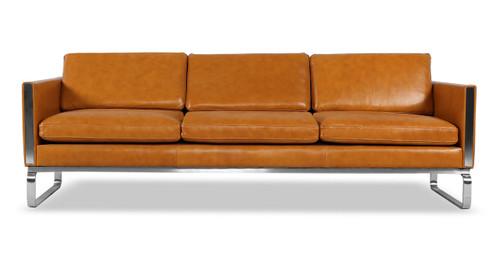 amsterdam sofa tan aniline leather