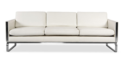 amsterdam sofa white aniline leather