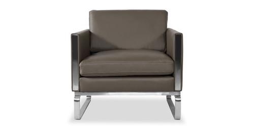 amsterdam chair grey aniline leather