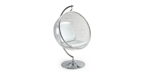 bubble chair with frame silver