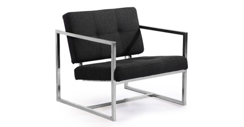 Cube Chair, Charcoal