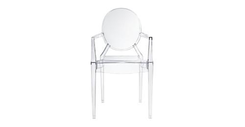 Phillip Arm Chair, Clear