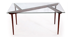 deco timber table
