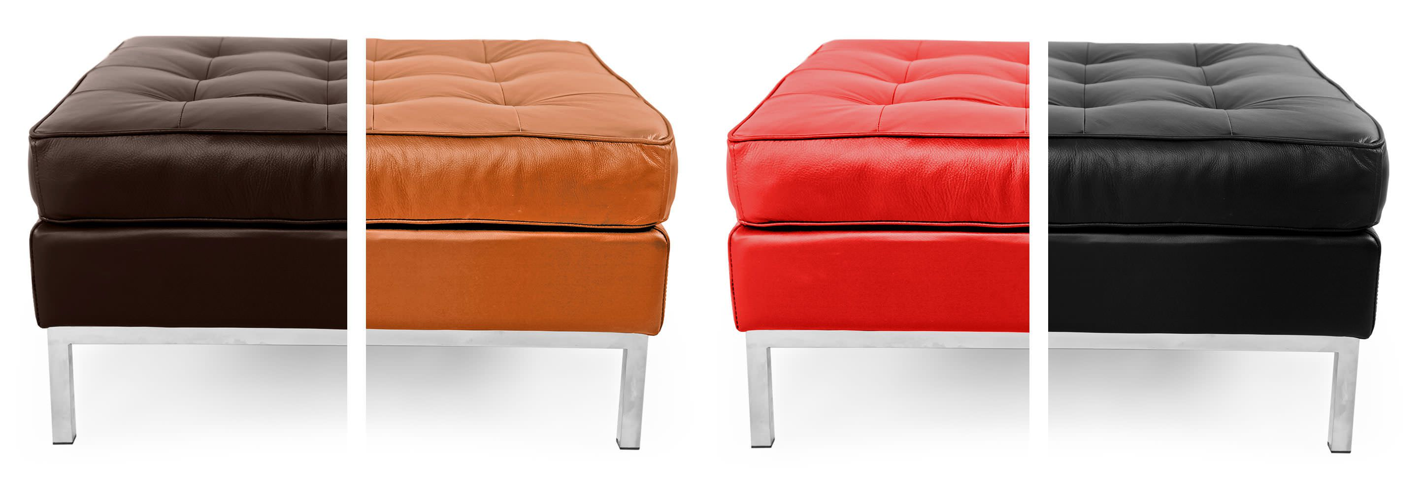 Florence knoll style ottoman footstool