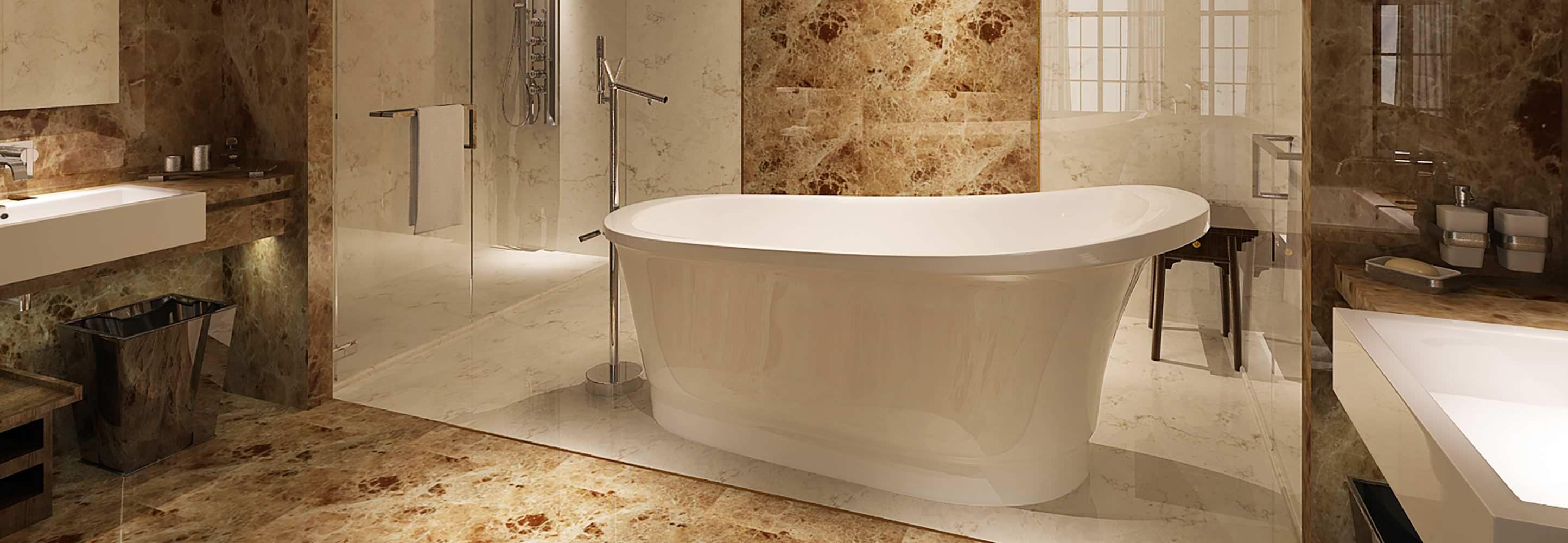 HelixBath Olympia Freestanding Pedestal Modern Tub