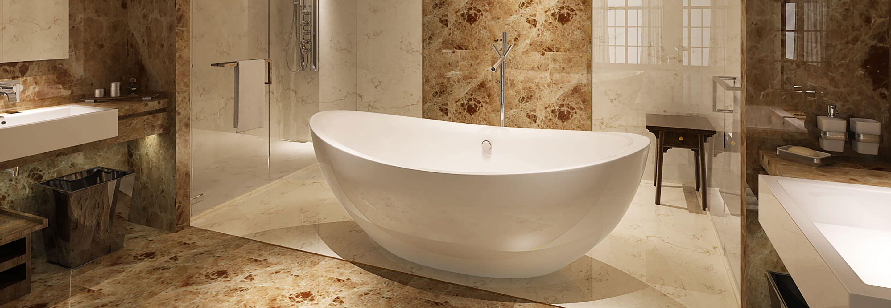 HelixBath Tholos Freestanding Pedestal Modern Tub
