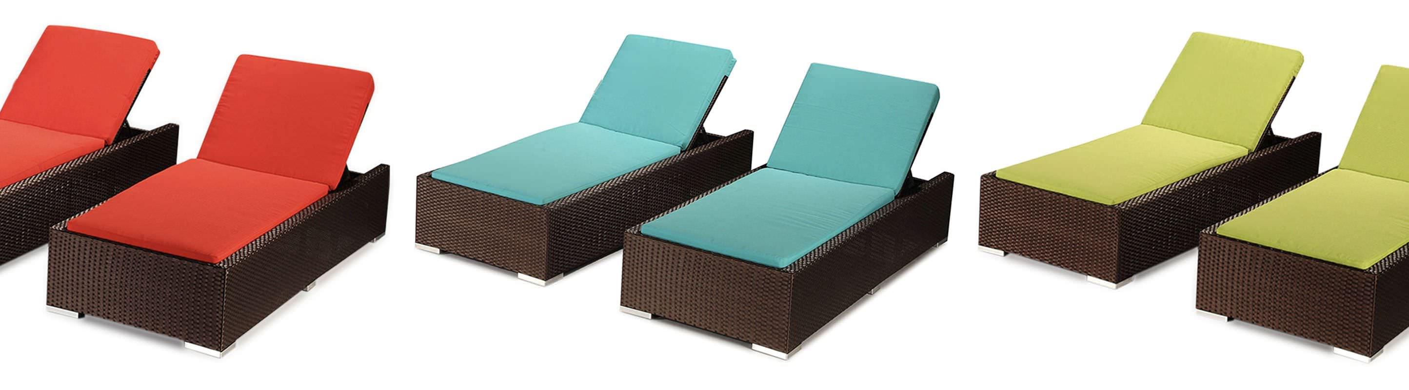 aloha hanalei chaise lounge modern outdoor