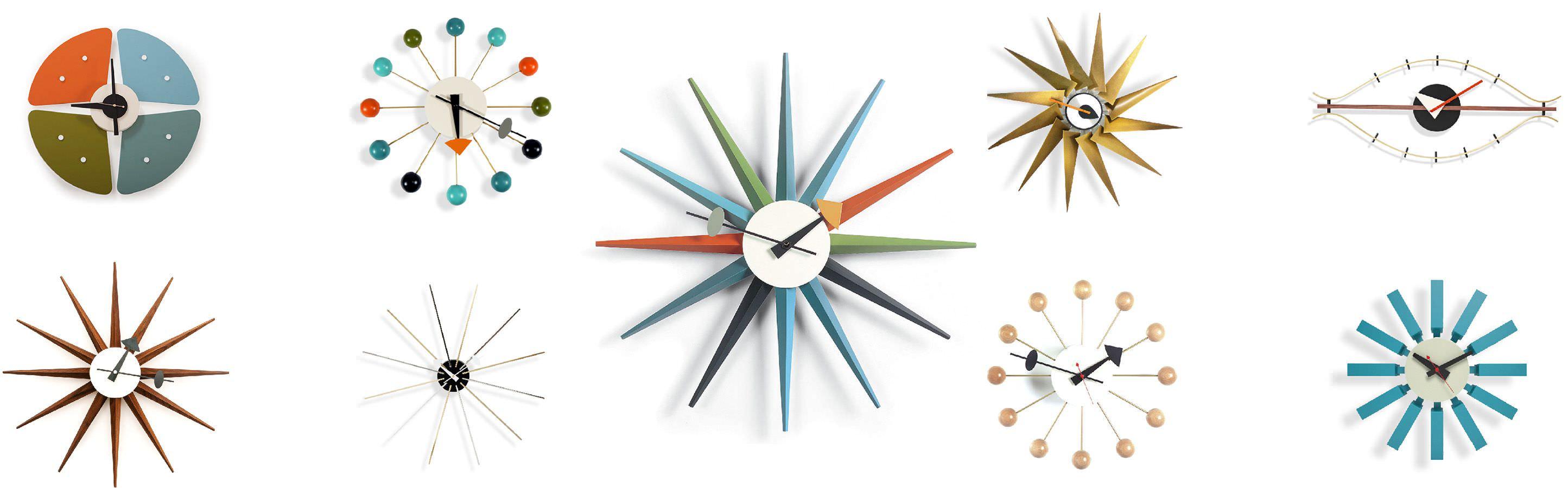 mid century modern clock Mid Century Modern George Nelson Wall Clocks by Kardiel mid century modern clock