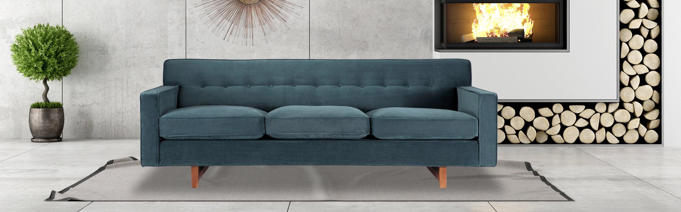 Kennedy Mid Century Modern Sofa