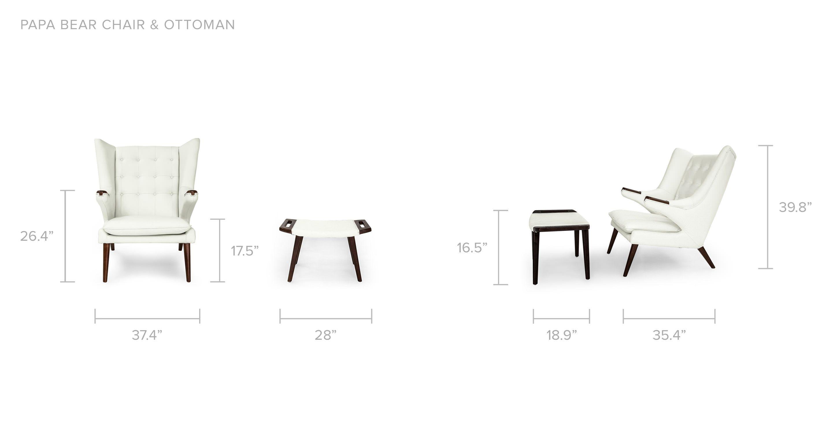 Papa Bear Chair & Ottoman Deco Moss Kar l