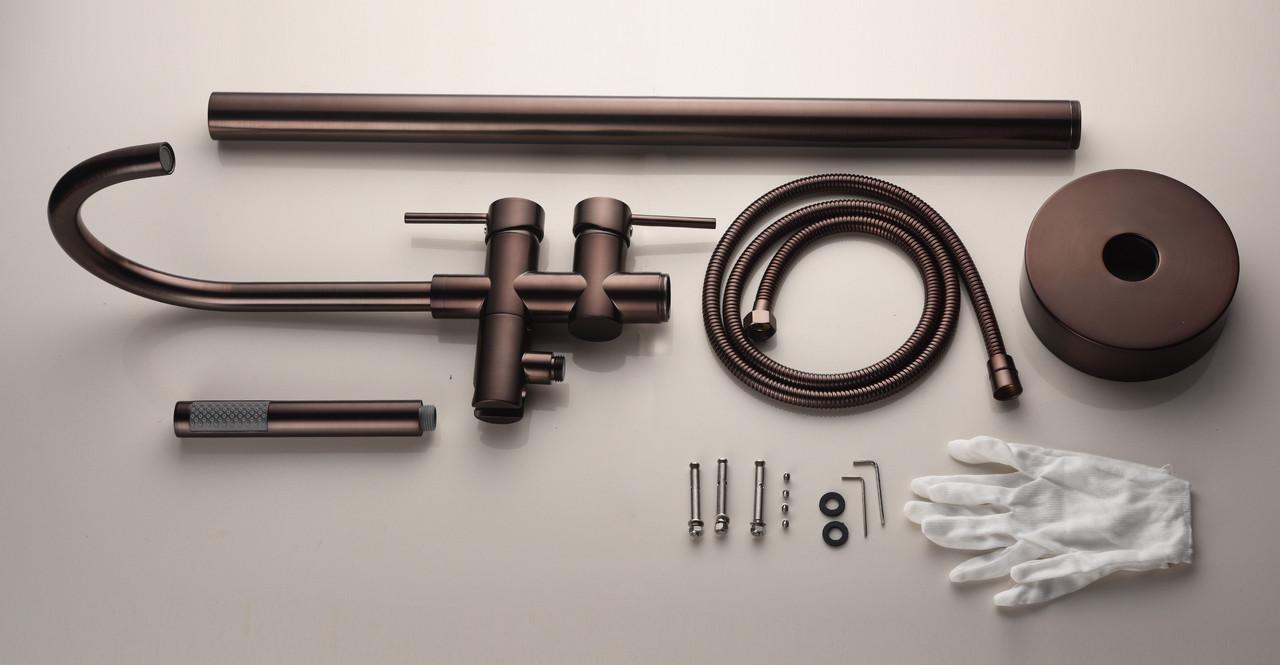 oil rubbed bronze tub faucet