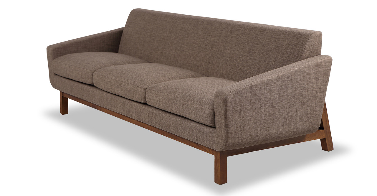 platform sofa brown