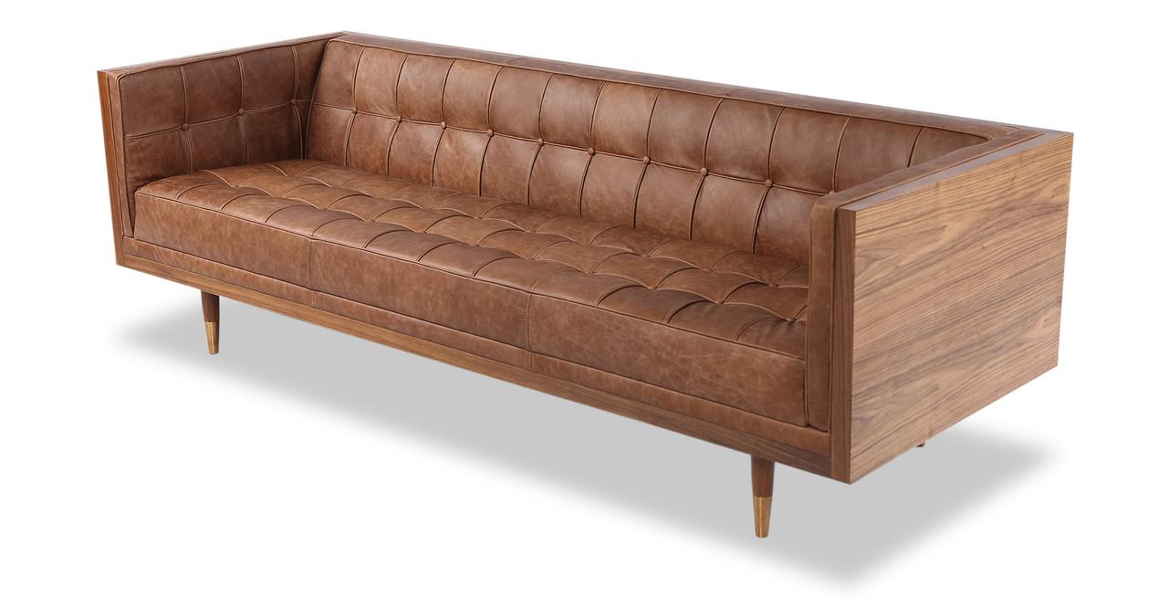 box sofa vintage leather