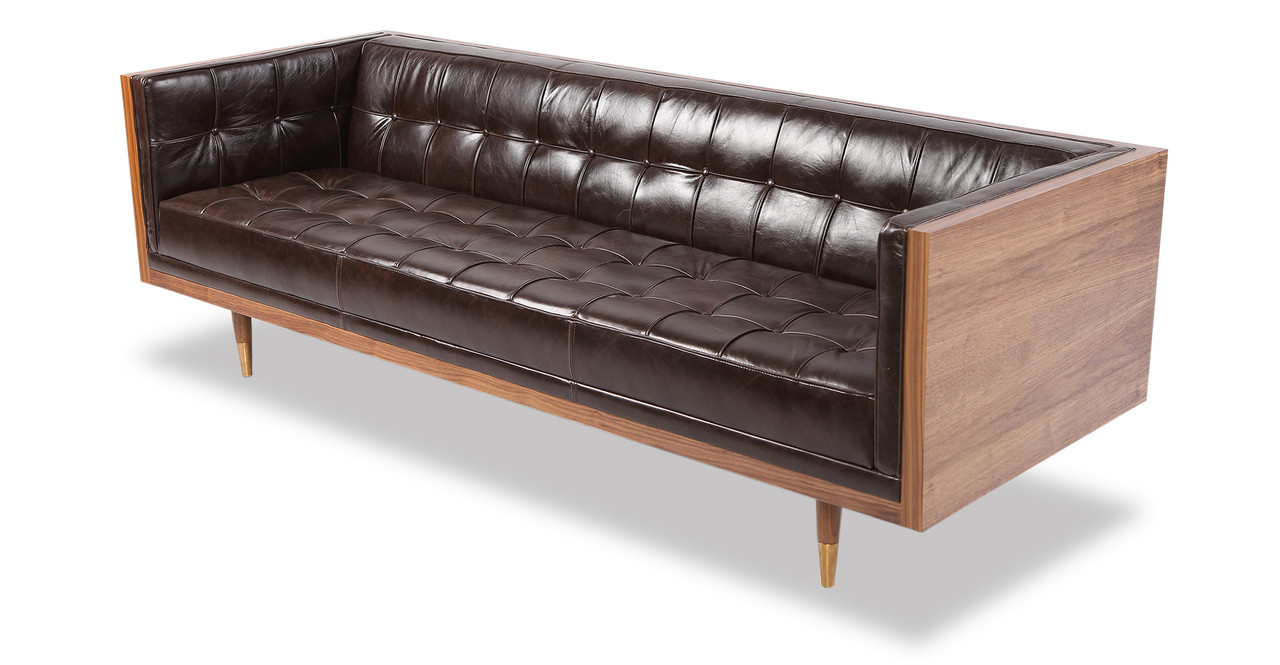 Ordinaire Box Sofa Vintage Leather