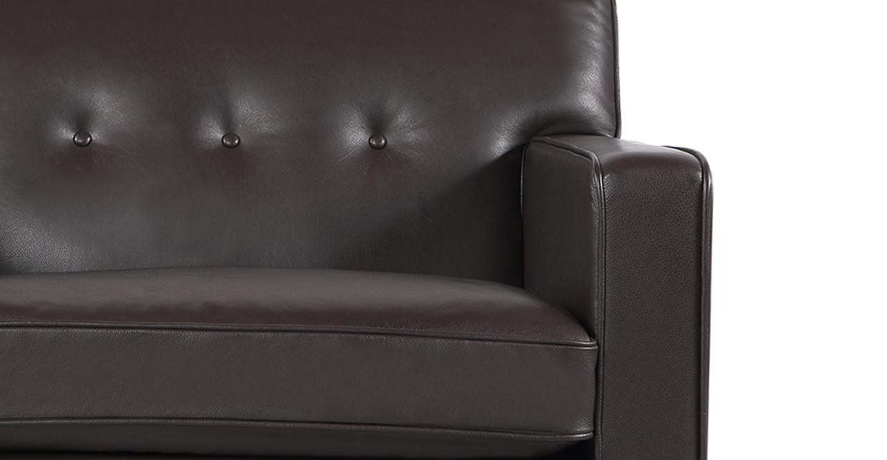 Amanda Horan Kennedy kennedy brown height - kennedy chair, brown aniline leather