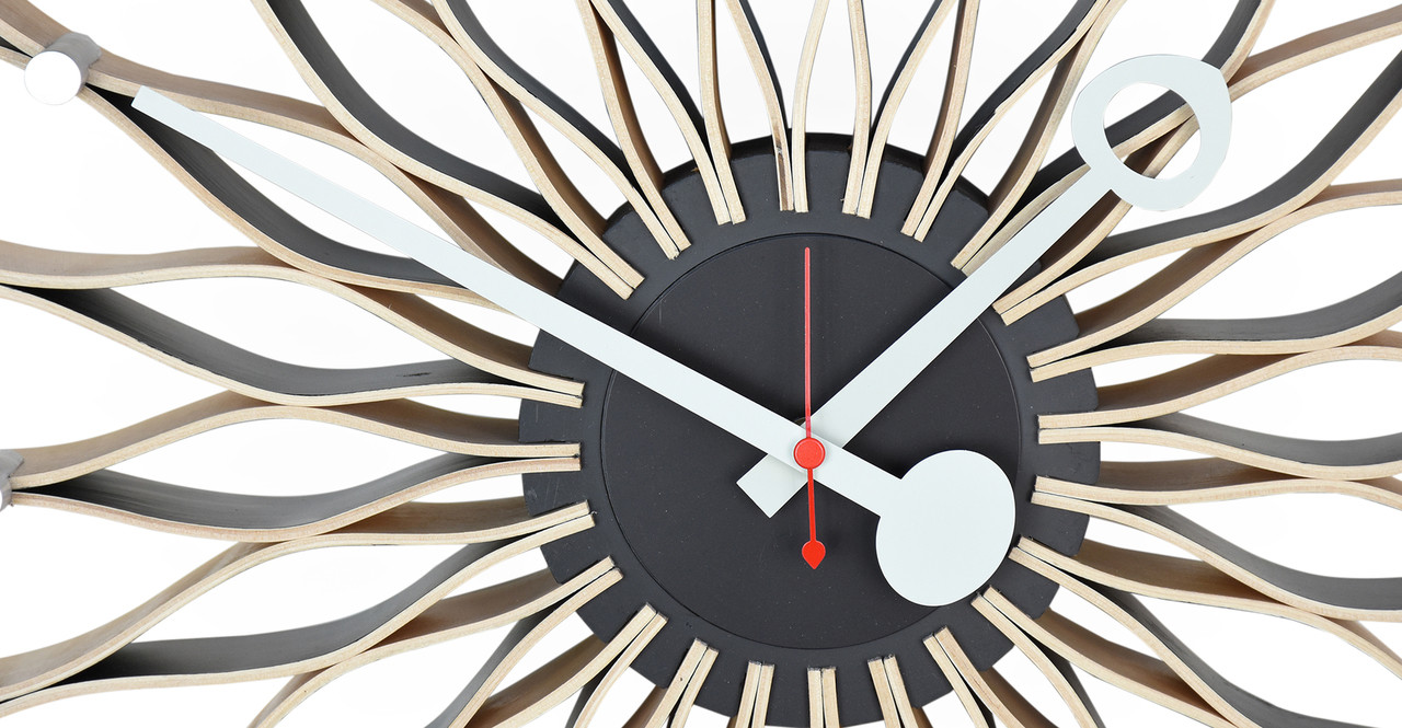 The Sunflower Clock Is Best Described As Atomic Retro Wall Art, And Makes A  Clever Space Impression, Particularly If Other Modern Classics Occupy The  Room.