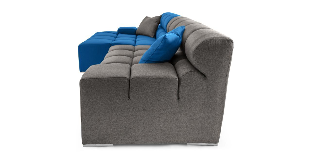 Cubix Sofa Sectional Blue/Grey