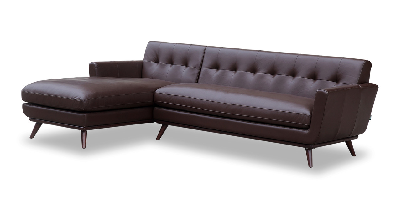 Jackie Sofa Sectional Brown Leather