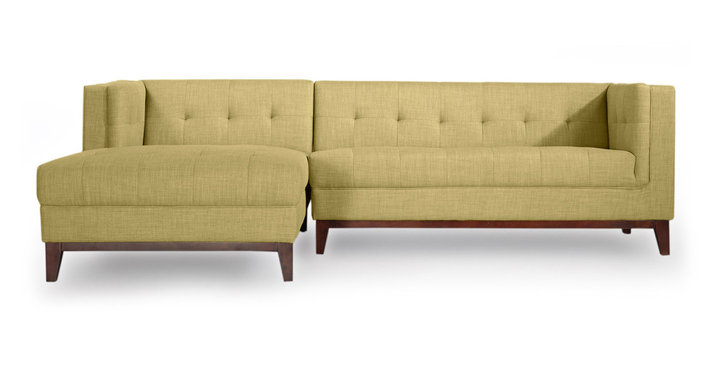 Harrison Chaise Sectional Left Face Lemon Grass Kardiel