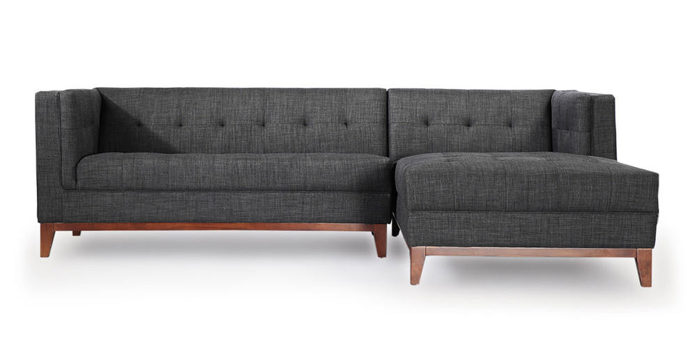 Harrison Chaise Sectional Right Face Midnight Oil Kardiel